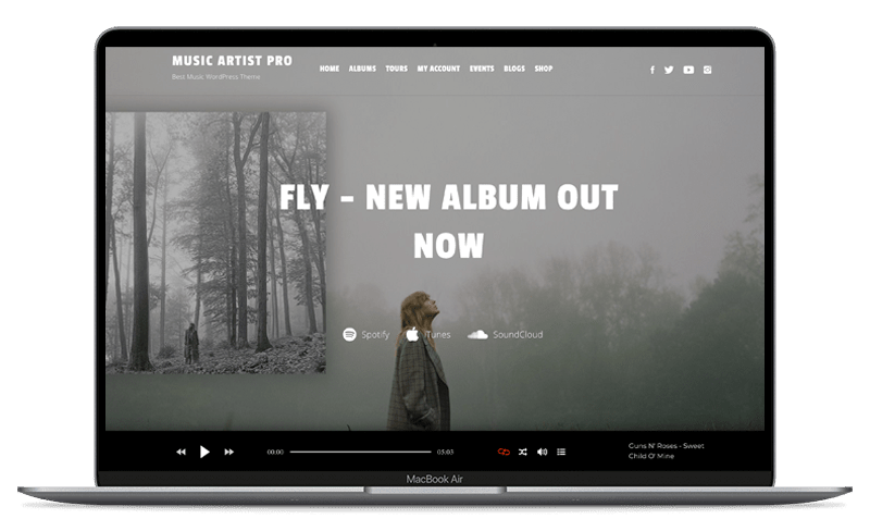 music artist WordPress theme